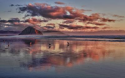 Sunset At Morro Strand Art Print