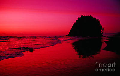 Photograph - Sunset At Neskowin Beach- Proposal Rock by Rick Bures