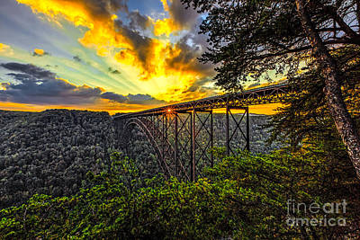 Photograph - Sunset At New River Gorge Bridge by Mark East