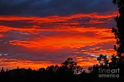 Sunset At Night Art Print by Kenny Bosak