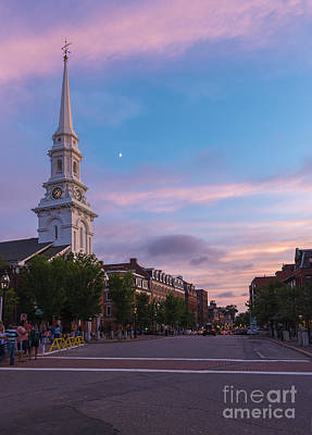 Photograph - Sunset At North Church by Sharon Seaward