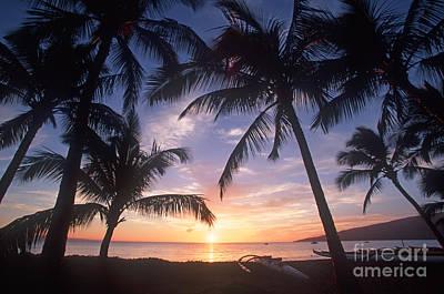 Photograph - Sunset At North Kihei by David Olsen