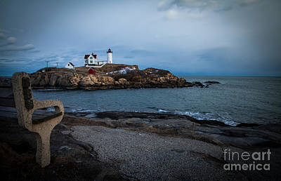 Sunset At Nubble Light House Art Print by Sue OConnor