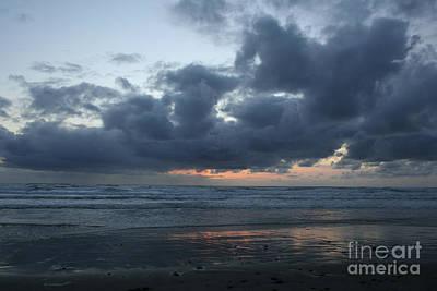Photograph - Sunset At Ocean Beach by Martha Johnson