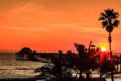Photograph - Sunset At Oceanside Pier by Ben Graham