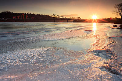 Photograph - Sunset  At Ohio River  by Emmanuel Panagiotakis