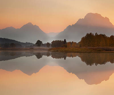 Sunset At Oxbow Print by Andrew Soundarajan