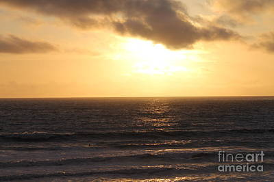 Photograph - Sunset At Pacific Beach by Pamela Walrath