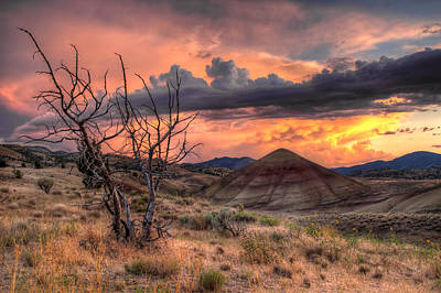 Hiking Photograph - Sunset At Painted Hills In Oregon by David Gn
