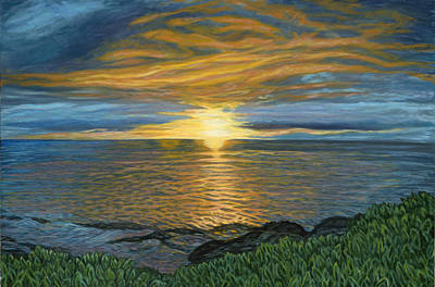 Painting - Sunset At Paradise Cove by Michael Allen Wolfe