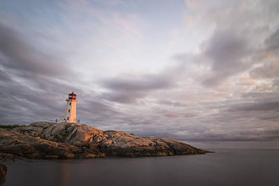 Photograph - Sunset At Peggy's Cove by Alex Lapidus