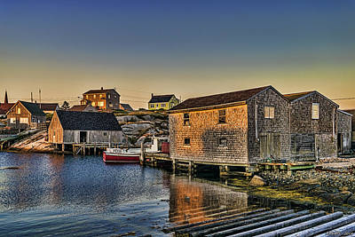 Sunset At Peggy's Cove IIi Art Print