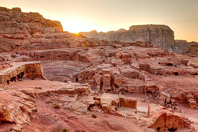 Nabatean Photograph - Sunset At Petra by Alexey Stiop