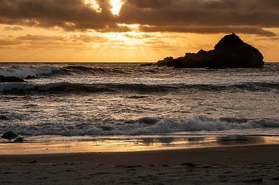 Photograph - Sunset At Pfeiffer State Beach by Lee Kirchhevel