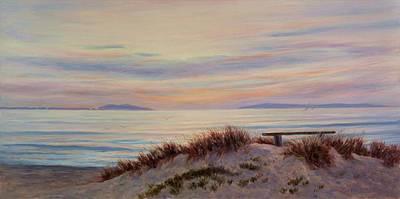 Sunset At Pierpont Beach Art Print by Tina Obrien