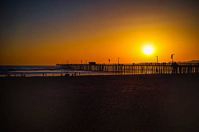 Sunset At Pismo Art Print
