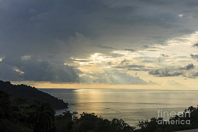 Photograph - sunset at Quepos by Russell Christie