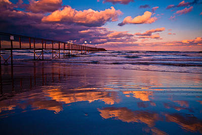 Craig Brown Photograph - Sunset At Rimini by Craig Brown