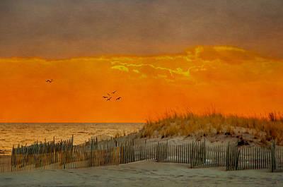Sunset At Robert Moses Park Art Print