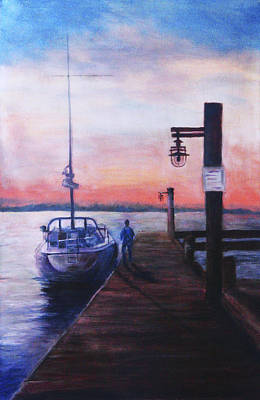 Painting - Sunset At Rocky Point by Sher Nasser