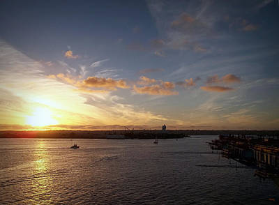 Photograph - Sunset At San Diego Harbor by Glenn McCarthy