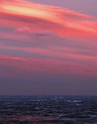 Photograph - Sunset At Sea by Ginny Barklow