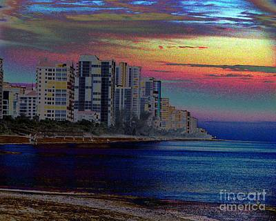 Digital Art - Sunset At Seagate Beach  by Doris Wood