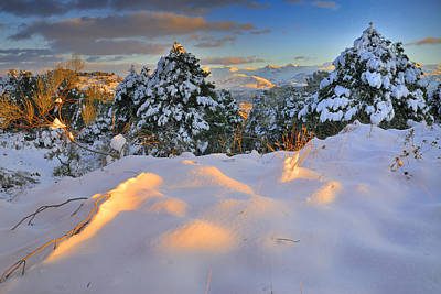 Sunset At Sierra Nevada Print by Guido Montanes Castillo