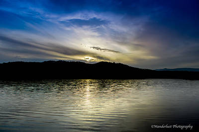 Photograph - Sunset At South Tellico Lake by Paul Herrmann