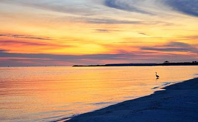 Photograph - Sunset At St. Andrews Beach by Walt Sterneman