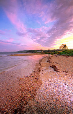 sunset at Stanley Beach. Art Print