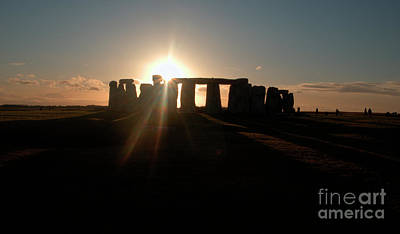 Photograph - Sunset At Stonehenge 3 by Deborah Smolinske