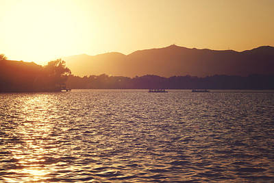 Art Print featuring the photograph Sunset At Summer Palace by Yew Kwang