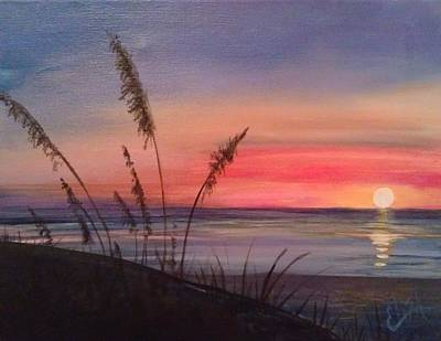 Wall Art - Painting - Sunset At The Beach by Elisa Gabrielli