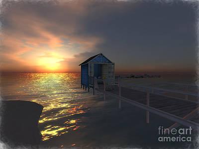 Sunset At The Beach Art Print by Susanne Baumann
