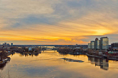 Photograph - Sunset At The City By The River by Celso Bressan