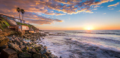 Sunset At The Cliffs Art Print by Adam Gaeth