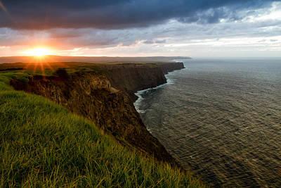 Sunset At The Cliffs Art Print