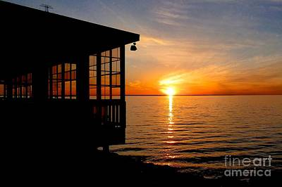 Photograph - Sunset At The Crab Shack by Jean Wright