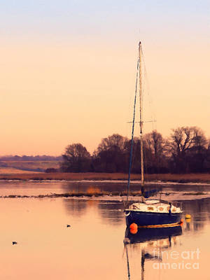 Ocean Sailing Photograph - Sunset At The Creek by Pixel Chimp