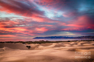 Sand Dunes Photograph - Sunset At The Dunes by Mimi Ditchie