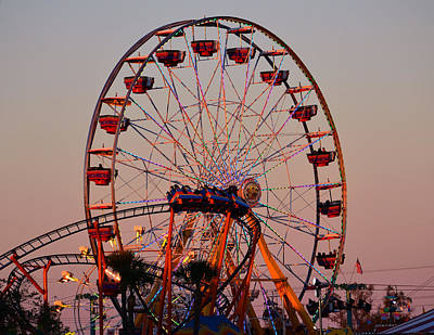 Florida State Fair Photograph - Sunset At The Fair by David Lee Thompson