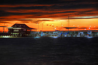 Digital Art - Sunset At The Fairhope Pier by Michael Thomas