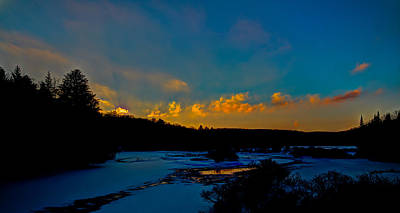 Sunset At The Bridge Photograph - Sunset At The Green Bridge by David Patterson