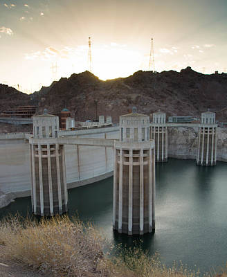 Photograph - Sunset At The Hoover Dam by Nathan Hillis