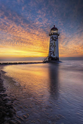 Photograph - Sunset At The Lighthouse by Ian Mitchell