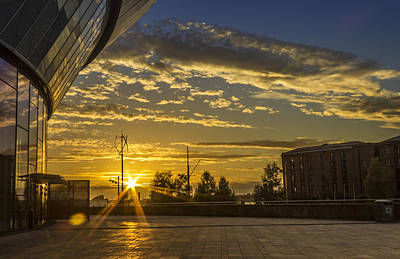 Albert Dock Photograph - Sunset At The Liverpool Arena by Paul Madden