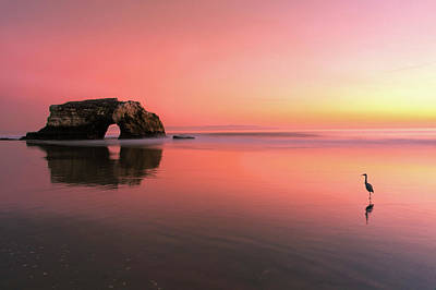 Pastel Sunset Photograph - Sunset At The Natural Bridge-2 by Rob Li