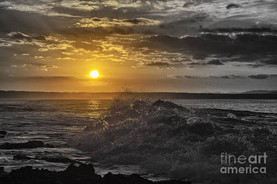 Sunset At The Ocean Art Print