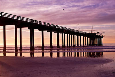 Photograph - Sunset At The Pier by Brooke Fuller